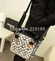 new 2014 Hot sale lovely lace handbag embroidery dandelion rivet shoulder bag Messenger Bag Multifunctional bag Wholesale B027