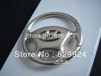 2pcs/lot free shipping car keychain for hyundai / auto logo key rings