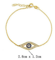 New Arrival! Wholesale Elegant Brand Design Gold Silver Crystal Evil Eyes Bracelet, vintage, retro, antique jewelry