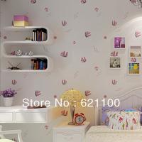 Mediterranean Style Wallpaper Tomtit Non-woven Wallpaper Boy/Girl Kid's Room Wallpaper Children Bedding Room Wallpaper 10m