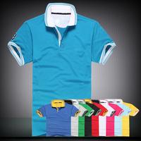 Free Shipping 2014 Brand Men Slim Fit Shirts For Men Aeronautica Militare Air Force One Brand T Shirt Pol Sleeve Shirt