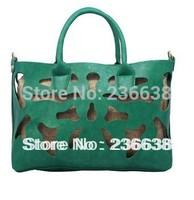 Free shipping-6 Colors Hot Sale  cut out women handbag hollow out vintage big purse shoulder bags totes