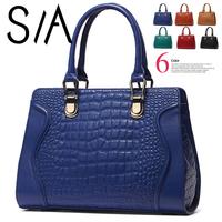 Promotion! 2014 New women genuine leather handbags fashion crocodile pattern shoulder bag brand designer women messenger bags