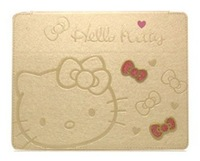 "Lovely Kitty  Cat  Bow Knot Pattern Leather Stand Case Skin Protector Cover for Samsung Galaxy Tab 3 10.1"" P5200"