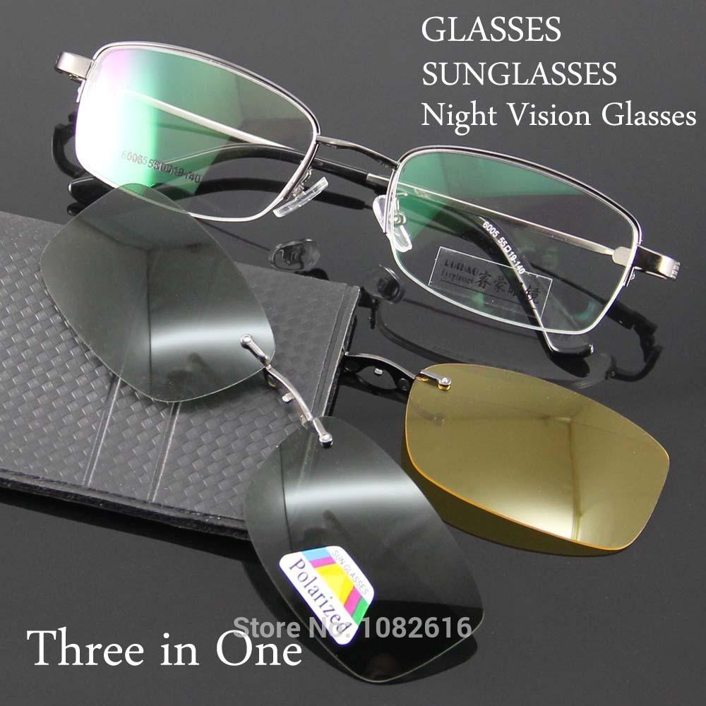 Glasses Frame Men Eyeglass Frame Plarized Sunglasses Night Vision Eyeglasses Prescription Spectacles Lens to Eye oculus de grau(China (Mainland))