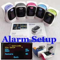 Cute color**!High quality CE FDA Fingertip Pulse Oximeter OLED display, SPO2 monitor Blood oxygen waveform1 unit Free P&P