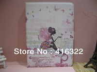 Free Shipping Beautiful Butterflies Rhinestone Book leather flip stand cases smart cover for ipad mini&ipad mini2