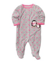Carter's Snap-up Microfleece Sleep & Play Penguins and Polka Dots Rollover Baby Essentials 3M-9M