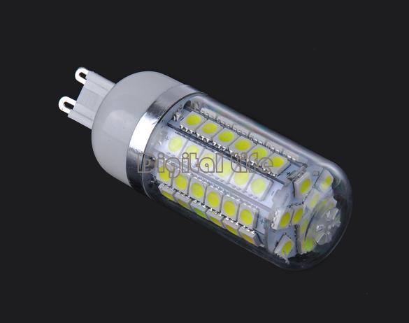 New G9 Energy Saving lamps SMD5050 69 LED Corn Light Cold White Bulb Lamp 220V-240V/6.8W 19064 19065(China (Mainland))