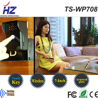 2014 The newest 7-inch TFT-LCD 2.4GHz  wireless video door phone with function of taking photos automatically,alarm,night vision