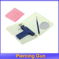 Free shipping+Professional Steel Ear Nose Navel Body Piercing Gun 72pcs Studs Tool Kit Set
