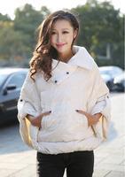 winter coat jacket women  A word doll fluffy cloak down jacket jaqueta feminina casual coat desigual casacos femininos trench