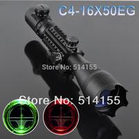 Telescopic sight 4-16x50EG Red Green Dot Reflex Sight r gun sight riflescopes LLL night vision scopes for hunting FreeShipping