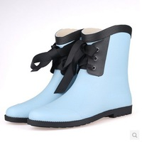 China famous brand high quality new arrival contracted matt frosted rubber soles fashion female rain boots Free shipping