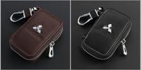 Automotive Remote Control key Bag For MITSUBISHI Lancer Outlander EVO EVOLUTION Eclipse ASX  key Bag Key Case Genuine Leather