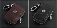 Genuine Leather Remote Control Bag For Volvo XC60 V40 V60 S40 XC90 C30 C70 S80L S60 key Bag Key Case