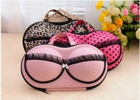 Hot sale Free shipping travel underwear storage zipper type bow lace bra bag luminous underwear storage box Organizer box