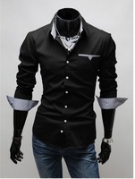 Free Shipping Wholesale 2013 Fashion men's shirts, Casual Slim Fit Style Men's Dress Shirts, Polo chemises men, camisa masculina