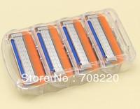 40pcs/lot(Equal 10packs/lot)  Hot Selling Very Sharp Men's Razor Blades F Power-4S model --4pcs/pack Free Shipping