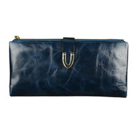 Special offer new women leather wallet purse women's long oil wax Free shipping!