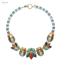 European And American Popular Brand Luxury Lotus Frame With Crystal Scarab Necklace Retail For 2013 Women New Arrival