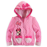 Free Shipping New 2013 Retail Minnie Mouse Coat with Bow Baby Girls Cartoon Clothing Long Sleeve Outerwear Children's Sweater