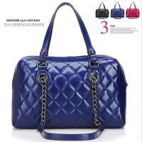 New 2014 Women Real Leather Handbag Ladies Shoulder Bag Totes Vintage Bag genuine leather women's messenger bags brands designer