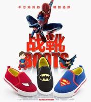Autumn New Arrival Print BatMan SuperMan SpiderMan Girls/boys Canvas Children Shoes Shoe Kids Male Slip-On Kids Fashion Sneakers