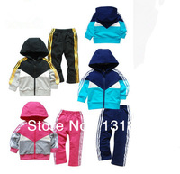 baby clothing boys girls clothes sets  Baby Kids Toddler Tracksuit Sportwear Hoodies Hoody Outfit Garment Outwear + Pant  retail
