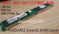 Brand New Sealed DDR2 1gb,2gb,4gb ram,800mhz,667mhz,533mhz,  PC2 6400 Desktop RAM Memory  free shiping
