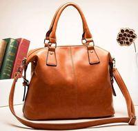 Hot wax oil cow leather bag 2014 new women handbag genuine leather bag bright fashion women messenger bag natural leather bolsas