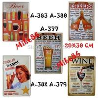 [ Mike86 ] Retro BAR Metal Tin Signs Decor Wall Plaque art decor 2014 Cafe PUB Antique ART Painting RA-027 Mix order 20*30 CM