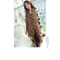 Details about 2014 Fashion Big Size Spot Leopard Design U-warm Scarf Shawl Wrap