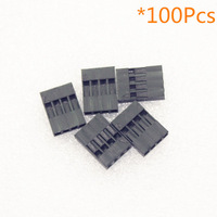 100pcs 2.54mm 4P Pitch Dupont Jumper Wire Cable Housing Female Pin Connector
