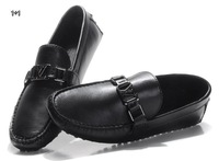 New 2014 high quality Hombres Zapatos Casual band men flats slip-on genuine leather shoes Plus size 40-46