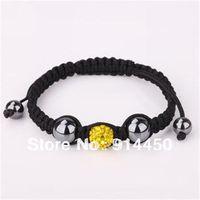 handmade bangles,one piece shamballa bracelet lemon micro disco ball fashion shambhalla bracelets jewelry lemon free P&P