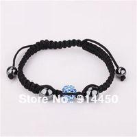 handmade bangles,one piece shamballa bracelet blue strand micro disco ball shambhalla bracelets jewelry mix colours free P&P