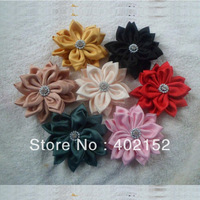 Free Shipping Camelia flower hair clip,fabric flower brooch, hair accessory 20 Pcs/Lot  3lots off 10%