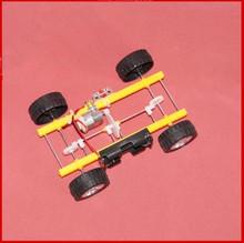 DIY handmade carro de brinquedo caseiro quatro rodas tecnologia de montagem da engrenagem pequena versão de produção do material modelo(China (Mainland))