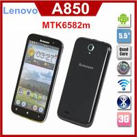Original Lenovo A850 A850+A850i phone Octa Core MTK6592 5.5 inch IPS Android 4.2 1GB RAM 4GB ROM Dual SIM Multi Language 2500mAh