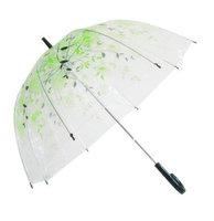 Pattern thickening umbrella plus size transparent umbrella transparent umbrella long-handled umbrella