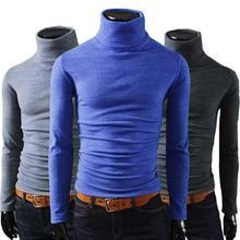y beneficio no 2014 hombres invierno térmica jersey de cuello alto suéter multicolor opción diseño sólido suave y cálido mtl088 envío gratis(China (Mainland))