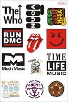 Punk music guitar rock hiphop Band Logo applique Laptop Sticker Skateboard waterproof sunscreen removable PVC Car sticker tz0043