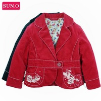 HK SUNO Children outerwear New arrival girl's blazer corduroy girl coat thick kids jacket