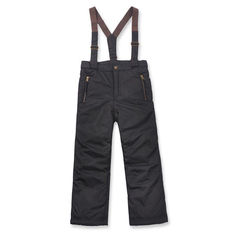 Garçons pantalons de neige russie marque doublure en molleton unisexe noir étanche épaississement bretelles hiver ski pantalons boy pantalons de neige(China (Mainland))