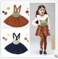 5pcs/lot baby girls suspender dress fashion animal strap dress children spring autumn dresses Overalls Dresses