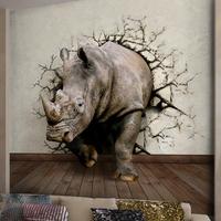 Large 3D Mural Three-dimensional Wallpaper Animal Picture Customized Mural Restaurant Sofa TV Wallpaper Personality 3D Mural
