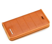 Genuine Leather Protective Wallet Cover Skin Case for Apple iPhone 5C
