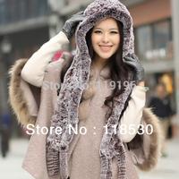 2014 free shopping Thermal dual rex rabbit skin straw hat rex rabbit hair scarf rex rabbit hair autumn and winter hat perimeter