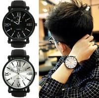 Hot Sale New Korean Fashion Brief Big Round Dial Men Women Quartz Watch Casual Retro Unisex Students Wristwatch